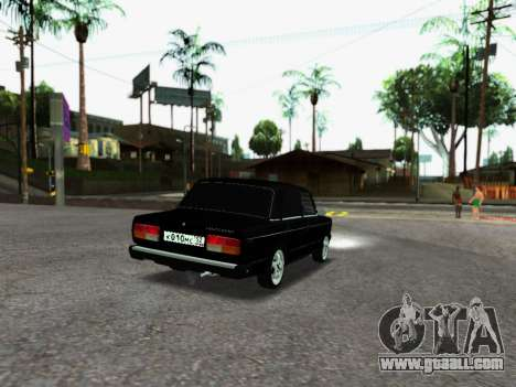VAZ 2107-107 for GTA San Andreas back left view