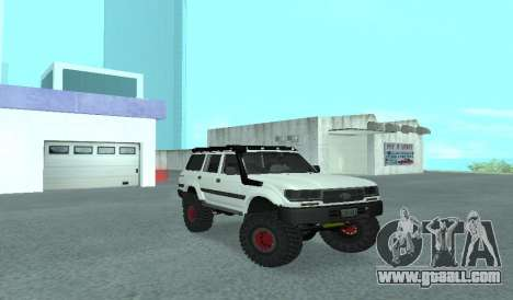 Toyota Autana 4500 off-road LED for GTA San Andreas back view