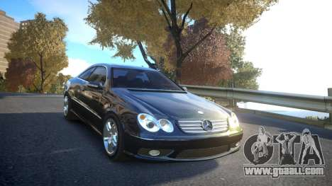 Mercedes CLK55 AMG Coupe 2003 for GTA 4 side view