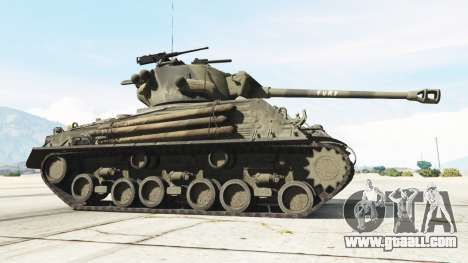 GTA 5 M4A3E8 Sherman Fury rear right side view