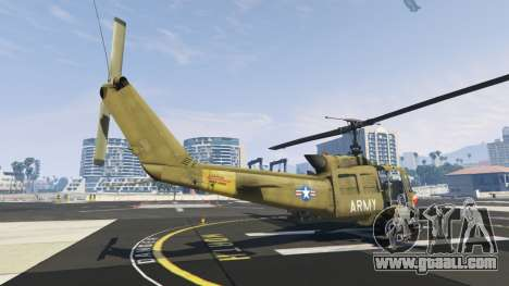 GTA 5 Bell UH-1D Iroquois Huey Gunship third screenshot
