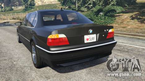 GTA 5 BMW L7 750iL (E38) rear left side view