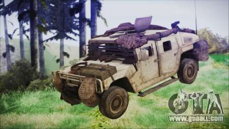 Humvee from Spec Ops The Line for GTA San Andreas right view