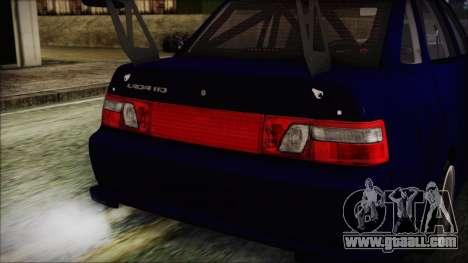 VAZ 2110 Sport for GTA San Andreas inner view