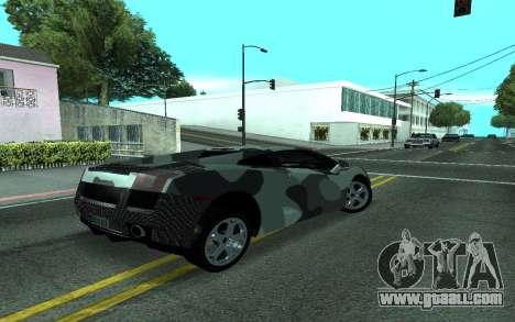 Lamborghini Gallardo Tunable for GTA San Andreas inner view