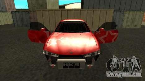 Nissan Silvia S14 Drift Red Star for GTA San Andreas wheels