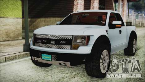 Ford F-150 SVT Raptor 2012 Stock Version for GTA San Andreas