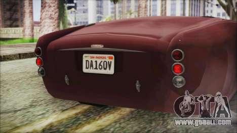 GTA 5 Declasse Mamba IVF for GTA San Andreas inner view
