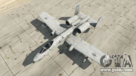GTA 5 Fairchild Republic A-10A Thunderbolt II v1.2 fourth screenshot
