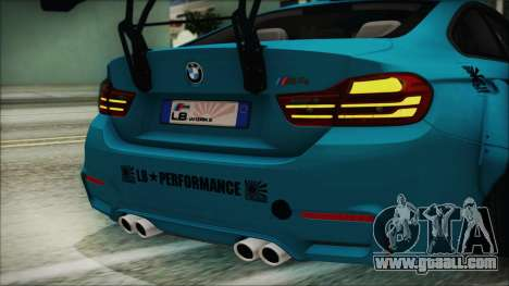 BMW M4 2014 Liberty Walk for GTA San Andreas side view