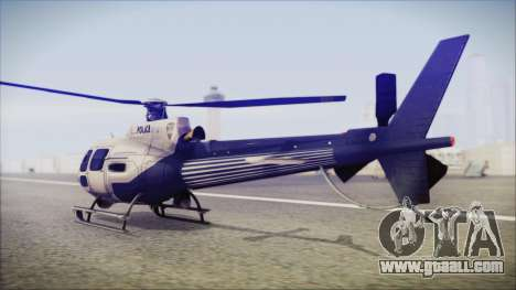 Batman Arkham Knight Police-Swat Helicopter for GTA San Andreas left view