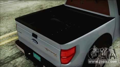 Ford F-150 SVT Raptor 2012 Stock Version for GTA San Andreas back view