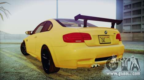 BMW M3 GTS 2011 IVF for GTA San Andreas back left view