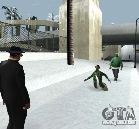 Throwing snow for GTA San Andreas forth screenshot