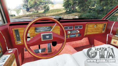 GTA 5 Cadillac Fleetwood 1985 Limousine [Beta] rear right side view