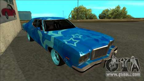 Ford Gran Torino Drift Blue Star for GTA San Andreas left view