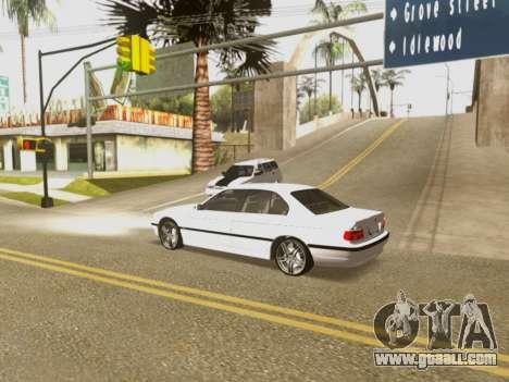 BMW 750i for GTA San Andreas bottom view