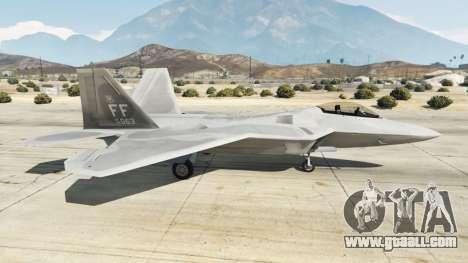 GTA 5 Lockheed Martin F-22 Raptor second screenshot
