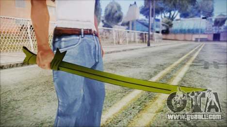 Grass Sword from Adventure Time for GTA San Andreas