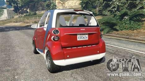 GTA 5 Smart ForTwo 2012 v0.1 rear left side view
