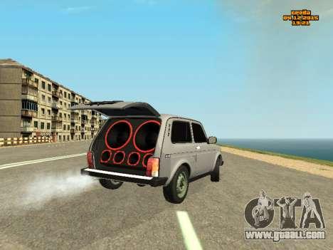 VAZ 2123 Niva auto Sound for GTA San Andreas back left view