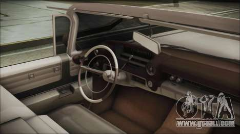 Cadillac Eldorado Biarritz 1959 for GTA San Andreas right view