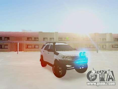 Toyota Fortuner 2012 TRD Off-Road for GTA San Andreas right view