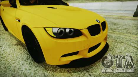 BMW M3 GTS 2011 IVF for GTA San Andreas back view