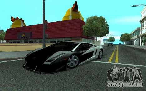 Lamborghini Gallardo Tunable for GTA San Andreas side view
