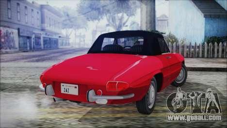 Alfa Romeo Spider Duetto 1966 for GTA San Andreas left view