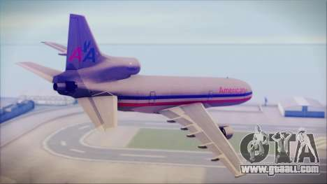 Lockheed L-1011 Tristar American Airlines for GTA San Andreas left view