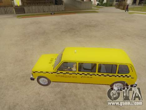 VAZ 2131 7-Door Taxi for GTA San Andreas back left view
