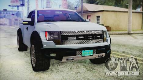 Ford F-150 SVT Raptor 2012 Stock Version for GTA San Andreas upper view