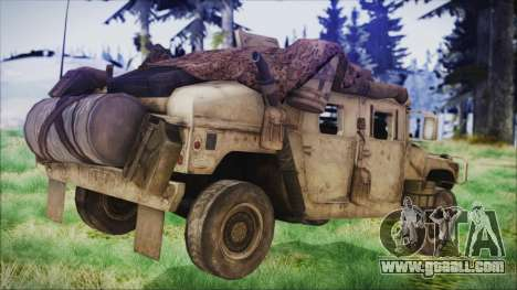 Humvee from Spec Ops The Line for GTA San Andreas left view