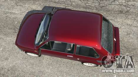 GTA 5 Fiat 126p v1.2 back view