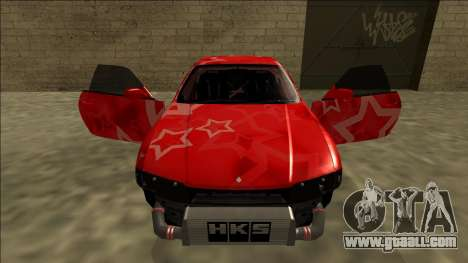 Nissan Skyline R33 Drift Red Star for GTA San Andreas wheels