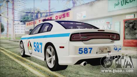 Dodge Charger SRT8 2012 Iraqi Police for GTA San Andreas left view