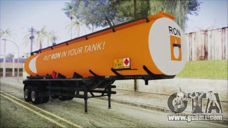 GTA 5 RON Tanker Trailer for GTA San Andreas