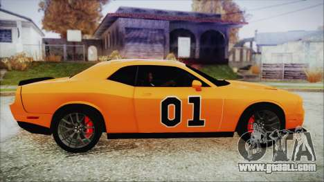Dodge Challenger SRT 2015 Hellcat General Lee for GTA San Andreas back left view