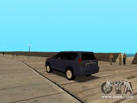 Toyota Land Cruiser Prado for GTA San Andreas back left view