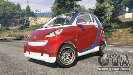 GTA 5 Smart ForTwo 2012 v0.1 right side view