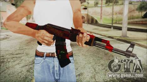 Xmas AK-47 for GTA San Andreas third screenshot