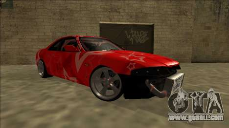 Nissan Skyline R33 Drift Red Star for GTA San Andreas upper view