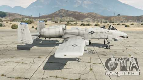 GTA 5 Fairchild Republic A-10A Thunderbolt II v1.2 second screenshot