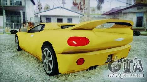 Gangsta Infernus for GTA San Andreas left view