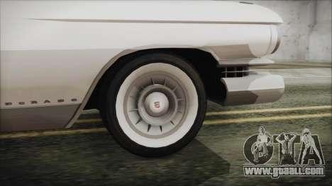 Cadillac Eldorado Biarritz 1959 for GTA San Andreas back left view