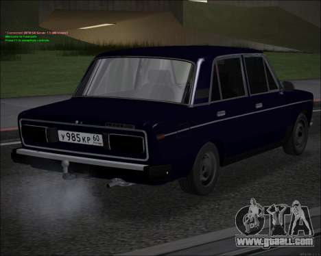 VAZ 2106 GVR for GTA San Andreas back left view