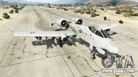 Fairchild Republic A-10A Thunderbolt II v1.2 for GTA 5