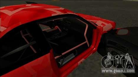 Nissan Silvia S14 Drift Red Star for GTA San Andreas bottom view