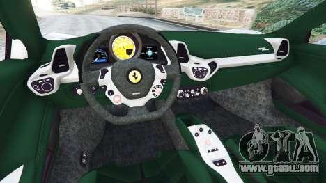 GTA 5 Ferrari 458 Spider 2012 rear right side view